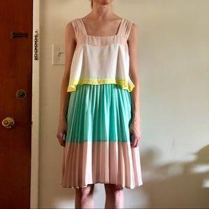 Anthro Color Block Dress